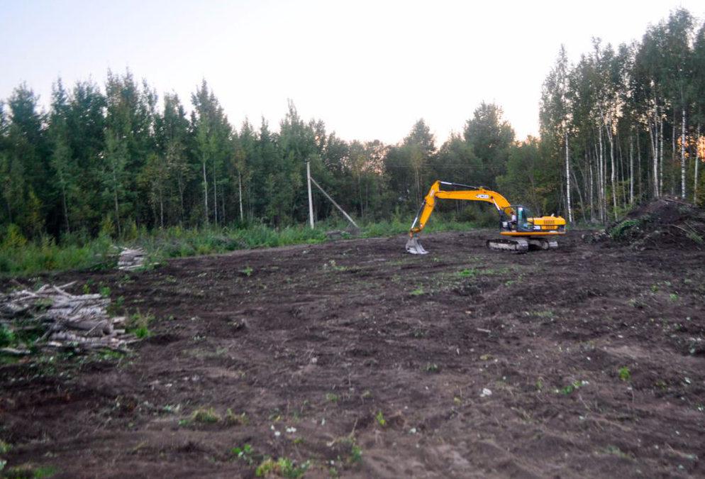Расчистка строительной площадки под будущую застройку.