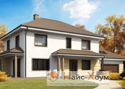 Жилой дом с цоколем и гаражом