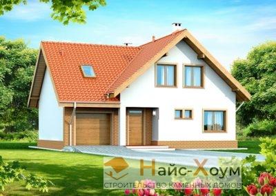 Проект бюджетного дома с мансардой